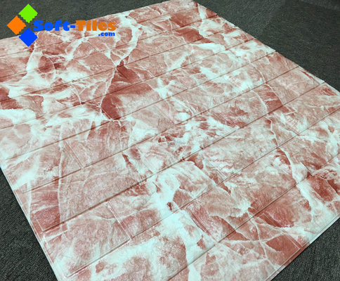 China color del mármol de la piedra del panel de pared 3D PE FoamDecor proveedor